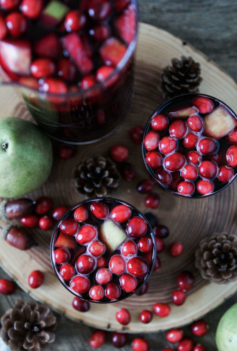 Spiced Cranberry Sangria - Jessi's Kitchen