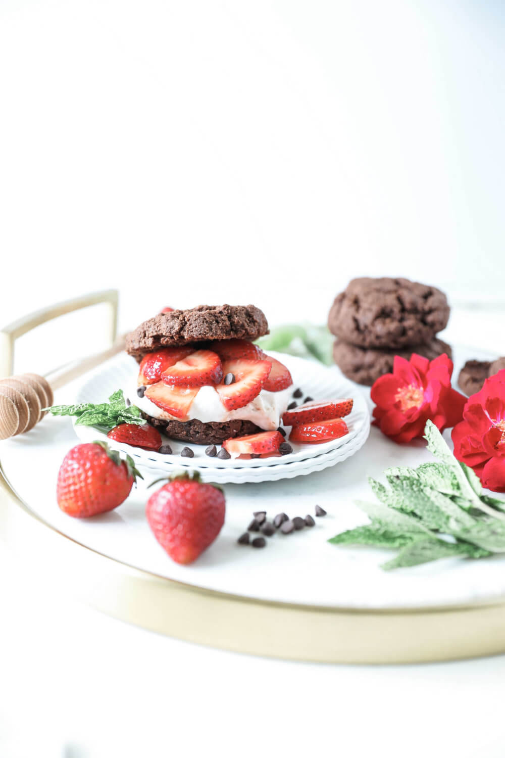Grain-free, Vegan Chocolate Strawberry Shortcake - Jessi's Kitchen