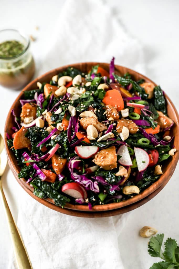 How to Make Soy-free Chicken Teriyaki Kale Salad: Jessi's Kitchen
