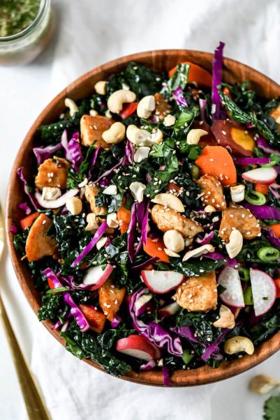 Chicken Teriyaki Kale Salad